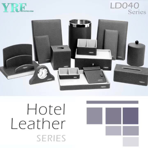 YRF Alibaba di vendita caldo Stationery Set Ufficio hotel Ecopelle Desk Set
